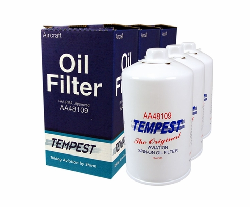 Tempest AA48109 Airplane Oil Filters - 6 Pack