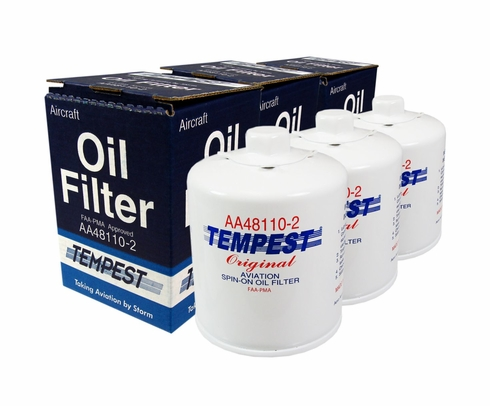 Tempest AA48110-2 Airplane Oil Filters - 6 Pack