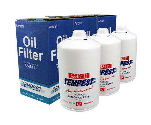 Tempest AA48111 Airplane Oil Filters - 6 Pack