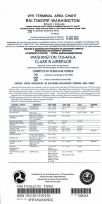 FAA TWAS Baltimore/Washington Terminal Area Chart