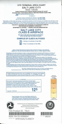 FAA TSLC Salt Lake City Terminal Area Chart