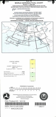 FAA WCC8 CC-8 World Aeronautical Charts