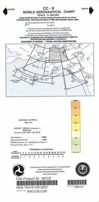 FAA WCC9 CC-9 World Aeronautical Charts