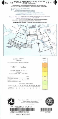 FAA WCE12 CE-12/13 World Aeronautical Charts