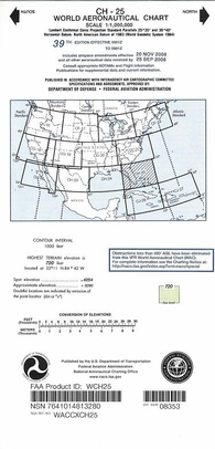 FAA WCH25 CH-25 World Aeronautical Charts