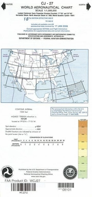 FAA WCJ27 CJ-27 World Aeronautical Charts
