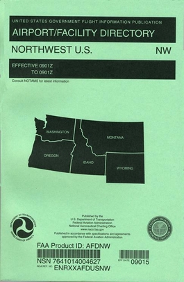 FAA AFDNW North West U.S. Airport/Facility Directory (AFD)