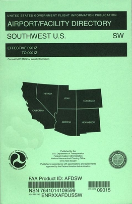 FAA AFDSW South West U.S. Airport/Facility Directory (AFD)