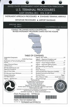 FAA TPPEC3 Approach Chart East Central Vol. 3 - Loose Leaf