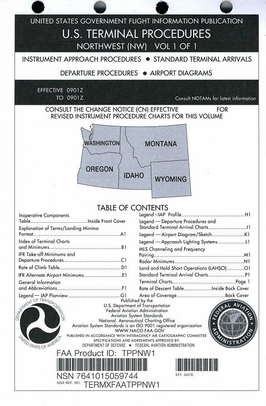 FAA TPPNW1 Approach Chart Northwest Vol. 1 - Loose Leaf