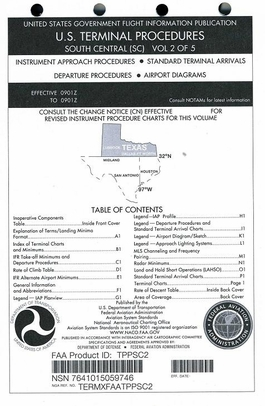 FAA TPPSC2 Approach Chart South Central Vol. 2 - Loose Leaf