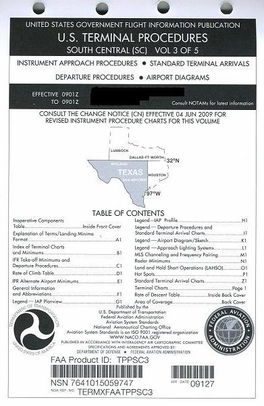 FAA TPPSC3 Approach Chart South Central Vol. 3 - Loose Leaf