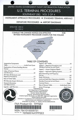 FAA TPPSE2 Approach Chart Southeast Vol. 2 - Loose Leaf