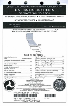 FAA TPPSW2 Approach Chart Southwest Vol. 2 - Loose Leaf
