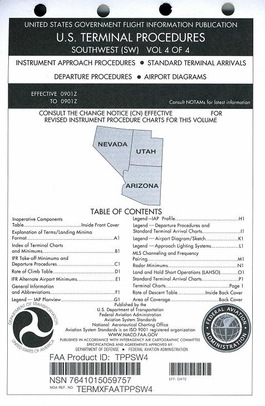 FAA TPPSW4 Approach Chart Southwest Vol. 4 - Loose Leaf