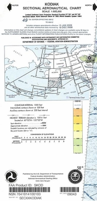 FAA SKOD Kodiak Sectional Chart