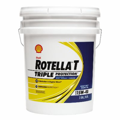 Shell Rotella T Triple Protection 15W-40 Engine Oil - 5 Gallon Jug - CJ-4