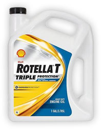 Shell Rotella T Triple Protection 15W-40 Engine Oil - 1 Gallon Jug - CJ-4
