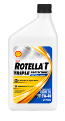 Shell Rotella T Triple Protection 15W-40 Engine Oil - 12 Quart Case - CJ-4
