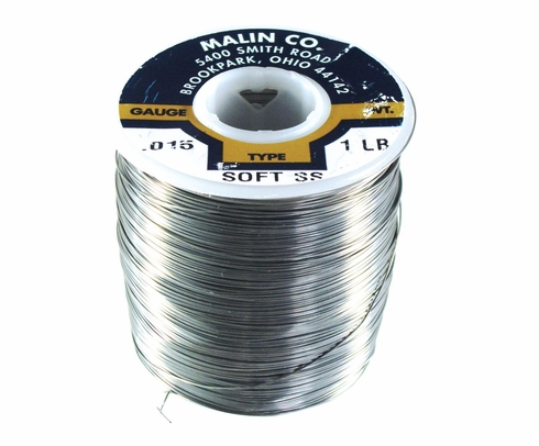 "Malin MS20995C15 Stainless Steel Safety Wire (1 lb. Roll) - 0.015"" Diameter - ASTM A580"