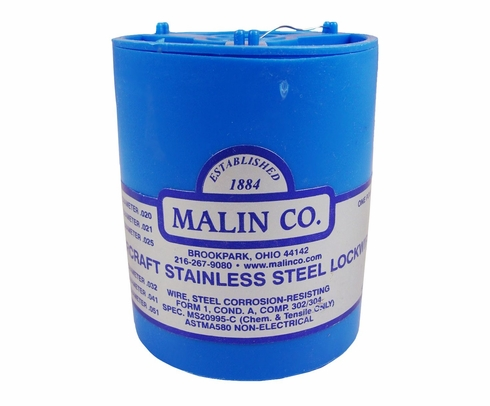"Malin MS20995C20 Stainless Steel Safety Wire (1 lb. Roll) - 0.020"" Diameter - ASTM A580"