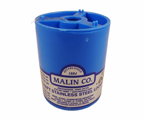 "Malin MS20995C22 Stainless Steel Safety Wire (1 lb. Roll) - 0.022"" Diameter - ASTM A580"