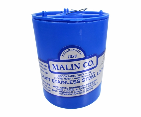 "Malin MS20995C24 Stainless Steel Safety Wire (1 lb. Roll) - 0.024"" Diameter - ASTM A580"