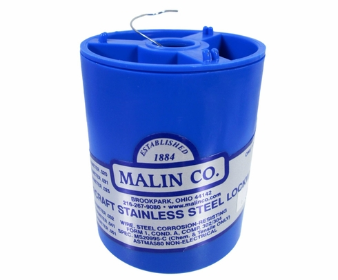 "Malin MS20995C28 Stainless Steel Safety Wire (1 lb. Roll) - 0.028"" Diameter - ASTM A580"