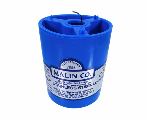 "Malin MS20995C35 Stainless Steel Safety Wire (1 lb. Roll) - 0.035"" Diameter - ASTM A580"