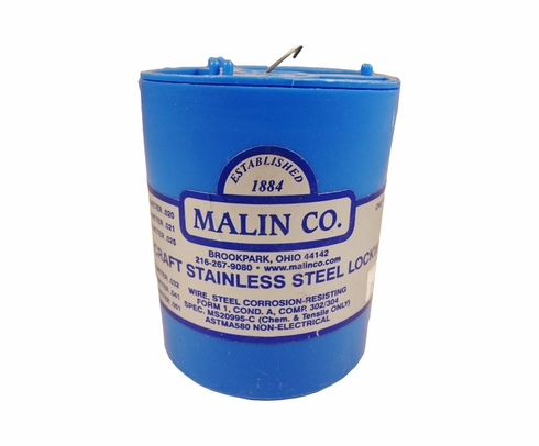 "Malin MS20995C40 Stainless Steel Safety Wire (1 lb. Roll) - 0.040"" Diameter - ASTM A580"