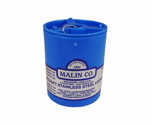 "Malin MS20995C41 Stainless Steel Safety Wire (1 lb. Roll) - 0.041"" Diameter - ASTM A580"