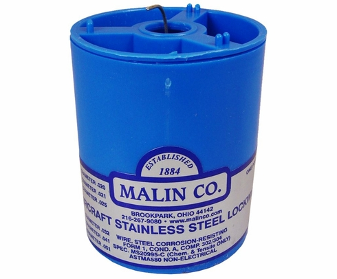 "Malin MS20995C51 Stainless Steel Safety Wire (1 lb. Roll) - 0.051"" Diameter - ASTM A580"