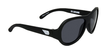 Babiators BAB-001 Baby Sunglasses - Black Ops Black - Junior - Ages 0-3 Years