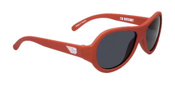 Babiators BAB-007 Baby Sunglasses - Rockstar Red - Classic - Ages 3-7 Years