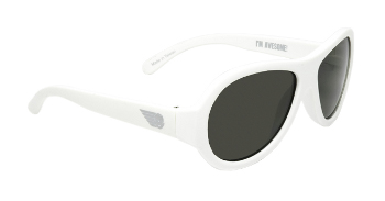 Babiators BAB-015-Baby Sunglasses - Wicked White - Classic - Ages 3-7 Years