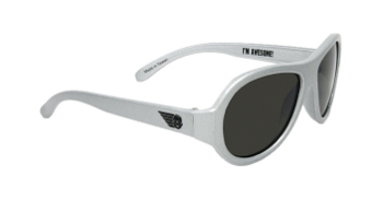 Babiators BAB-016 Baby Sunglasses - Superstar Silver - Classic - Ages 3-7 Years