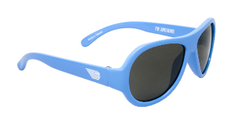 Babiators BAB-018 Baby Sunglasses - Beach Baby Blue - Classic - Ages 3-7 Years