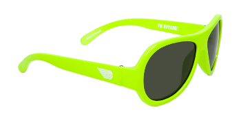 Babiators BAB-019 Baby Sunglasses - Limelight Lime - Classic - Ages 3-7 Years