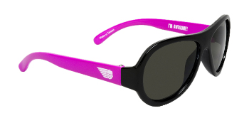 Babiators BAB-020 Kid Sunglasses - Sneak Attack Pink & Black - Classic - Ages 3-7 Years