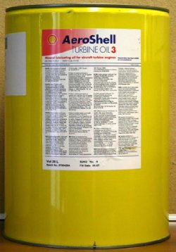 AeroShell Turbine Oil 3 Synthetic Turbine Engine Oil - 5 Gallon Pail