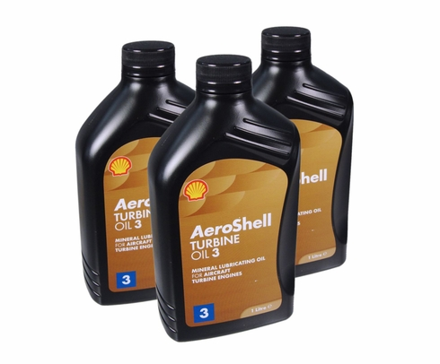 AeroShell Turbine Oil 3 Synthetic Turbine Engine Oil - 12 Liter/Case