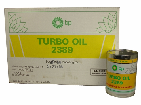 Air BP 2389 Turbine Engine Oil - 24 Quart/Case - MIL-C-7808C