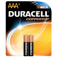 Duracell MN2400 2-Pack Alkaline Battery - AAA Size