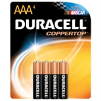 Duracell MN2400 4-Pack Alkaline Battery - AAA Size