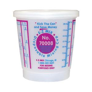 E-Z Mix 70008 Plastic 8 oz Mixing Cup - 100 Cup/Case