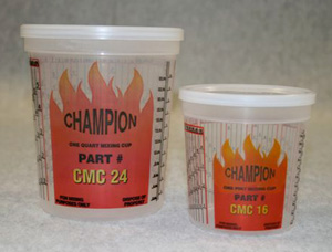 E-Z MIX CMC16 1-Pint Champion Dupont-Ratio Plastic Paint Mixing Cup - 100 Cup/Box