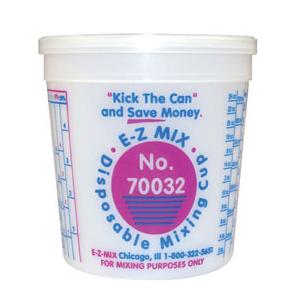 E-Z Mix 70032 Quart Plastic Mixing Cups - 100/Box - 32 oz
