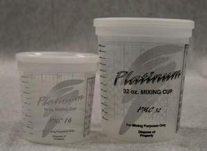 E-Z MIX PMC32 1-Quart Platinum PPG-Ratio Plastic Paint Mixing Cup - 100/Box - 32 oz