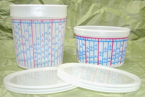 E-Z Mix 70008L 1/4 / 1/2 Pint Mixing Cup Lids - 100/Box