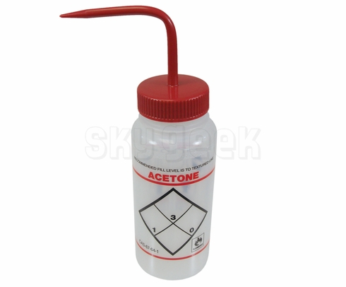 "Bel-Art F11646-0622 ""Acetone"" Safety-Labeled Wash Bottle"
